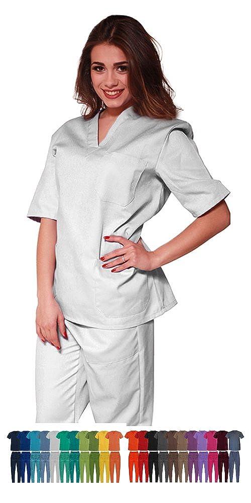 TCD Ricamo GRATUITO completo casacca e pantalone infermiere oss asa medico, divisa sanitaria