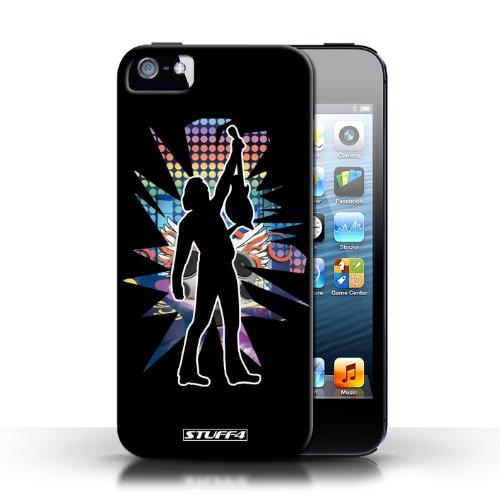 Etui / Coque pour Apple iPhone 5/5S / Atteindre Noir conception / Collection de Rock Star Pose