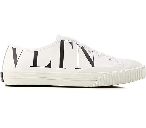 VALENTINO GARAVANI - Zapatillas de Cuero para Hombre Blanco Bianco: Amazon.es: Zapatos y complementos