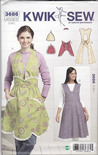 Kwik Sew K3686 Vintage Aprons and Pot Holders Sewing Pattern, Size ...