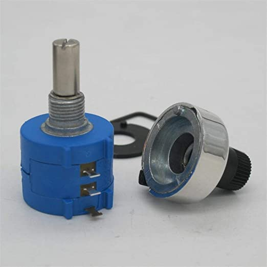 Uxcell a15050500ux0784 3590S-2-103L 10K Ohm 6 mm Shaft 10 Turns Wire Wound Potentiometer with Dial Knob