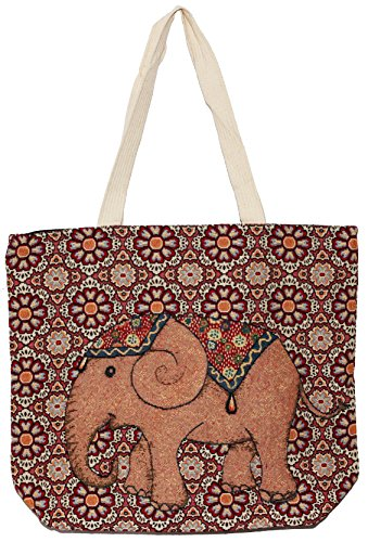 Top E117 Tote Size Shoulder Bag Hippie Handle Handbag Big Bohemian Elephant qwtBSTw