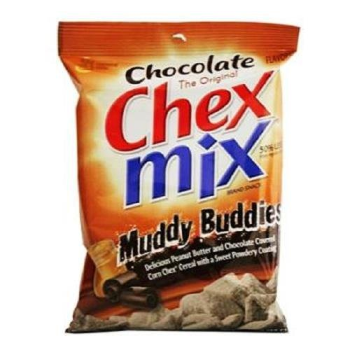 CHEX MIX MUDDY BUDDIES PEANUT BUTTER & CHOCOLATE 4.5 oz Each ( 7 in a Pack ) by Chex Mix Muddy Buddies