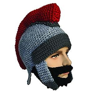 22a057973aa Kafeimali Men s Knight Knit Beard Hat Original Barbarian Warrior Halloween  Caps