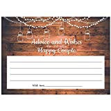 50 Rustic Wood & Lace Gender Neutral Advice And Wishes Cards, Two Grooms or Two Brides Advice Cards, Marriage or Wedding Advice Cards, Bridal Shower, New Happy Couple Cards, Couple Party Games