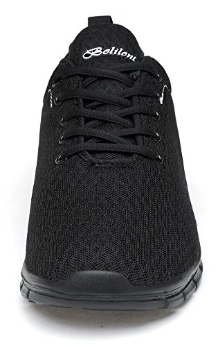 Belilent Herren Laufschuhe - Leichte Breathable Athletic Casual Schuhe Fashion Sneakers Alles schwarz