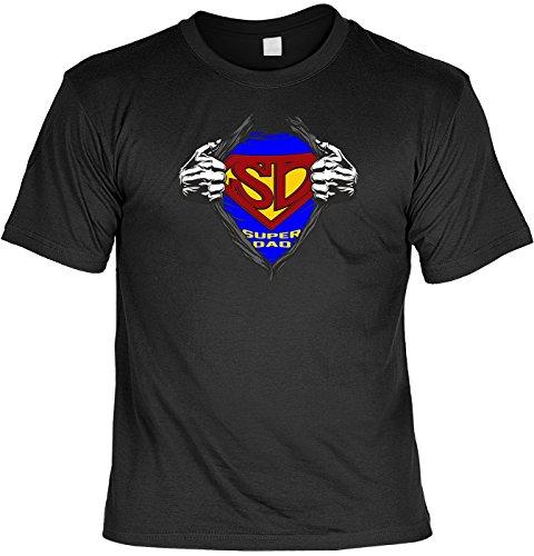 T-Shirt - Superdad Reloaded - lustiges Sprüche Shirt für Väter mit Humor - Geschenk Set mit Funshirt und Minishirt