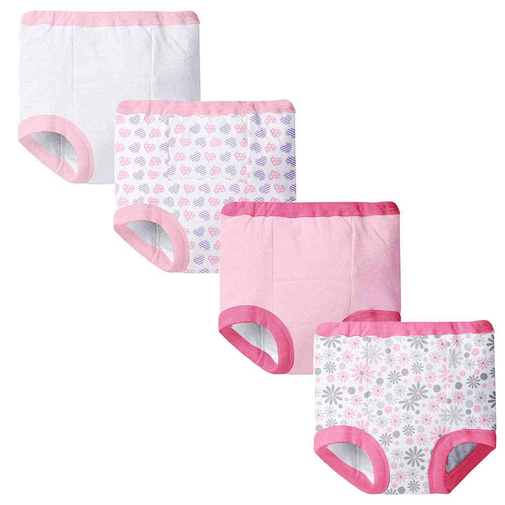 4-Pack Baby Training Underwear 5 Layer Padded Training Pants for Boys and Girls 18 Month-3T