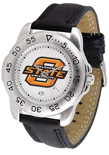 NCAA Oklahoma State Cowboys Bold Logo Sport Montre en cuir