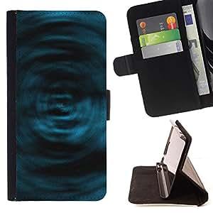 BullDog Case - FOR/Sony Xperia Z1 Compact D5503 / - / Blue Swirls /- Monedero de cuero de la PU Llevar cubierta de la caja con el ID Credit Card Slots Flip funda de cuer