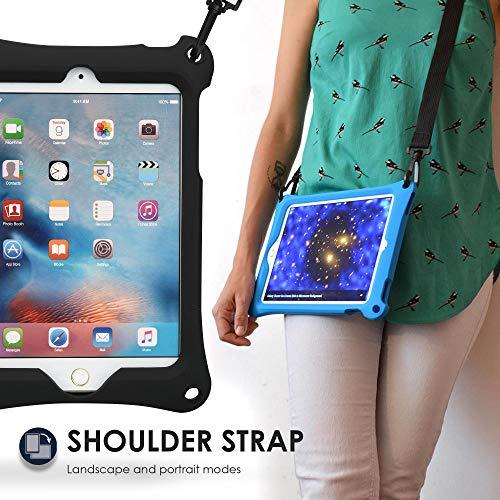 129b85f36618 ... ケース 【 iPad mini4 / mini3 / mini2 / mini 】 子供 ショルダー ハンド ストラップ スタンド シリコン  (ブラック) | Cooper Cases | タブレットPCバッグ 通販
