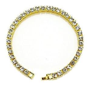 HH Bling Empire Iced Out 14k Gold Mens Hip Hop CZ Diamond Bracelets