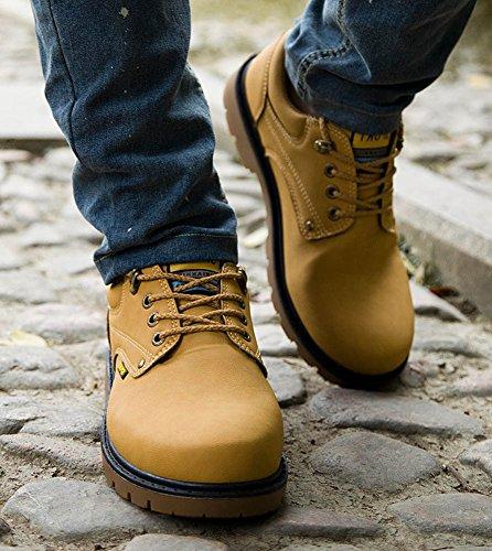 Shoes Trekking Oxford Cordones Botas amarillo Adulto Hombre Zapatos Zapatos Náuticos Adventure Botines Senderismo Minetom Para Zapatillas Con tw0Iqqx7