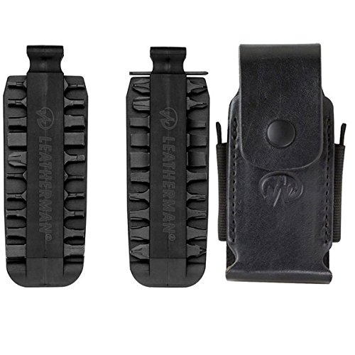 Leatherman Premium Leather and Nylon Sheath II With 42 Piece Bit Kit