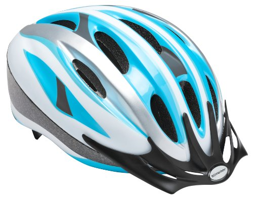 Schwinn Adult Intercept Helmet, Silver/Blue