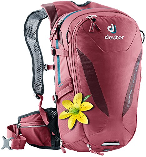 (Deuter Compact EXP 10 SL Biking Backpack with Hydration System, Cardinal/Maroon)