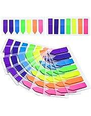 NATEE Zelfklevende markeerstiften, plakstrips, plakstrips, page, markeerstiften, indextabs, index, sticky notes, beschrijfbaar, kleurrijk, voor pagina-markering, 7 kleuren (1400 stuks)