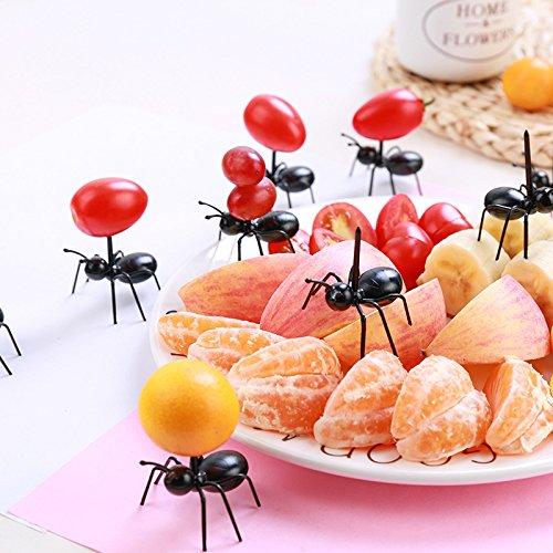 36Pcs Fruit Toothpick Dessert Forks, Plastic Ants Animal Appetizer Forks by TableRe (Image #5)