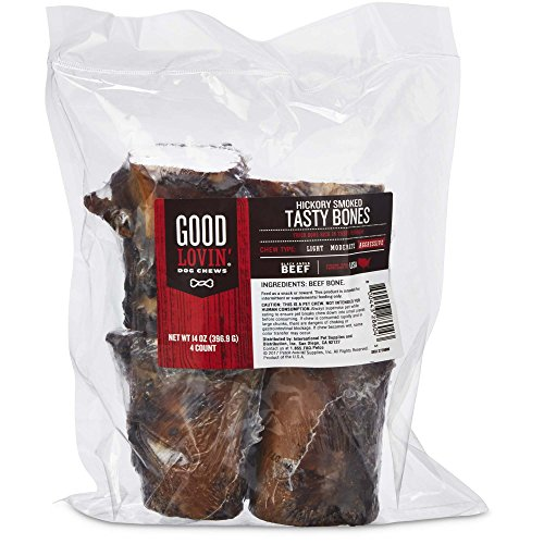 (Good Lovin' Hickory Smoked Tasty Bone Dog Chew, 3-inch, Pack of 4, Small )