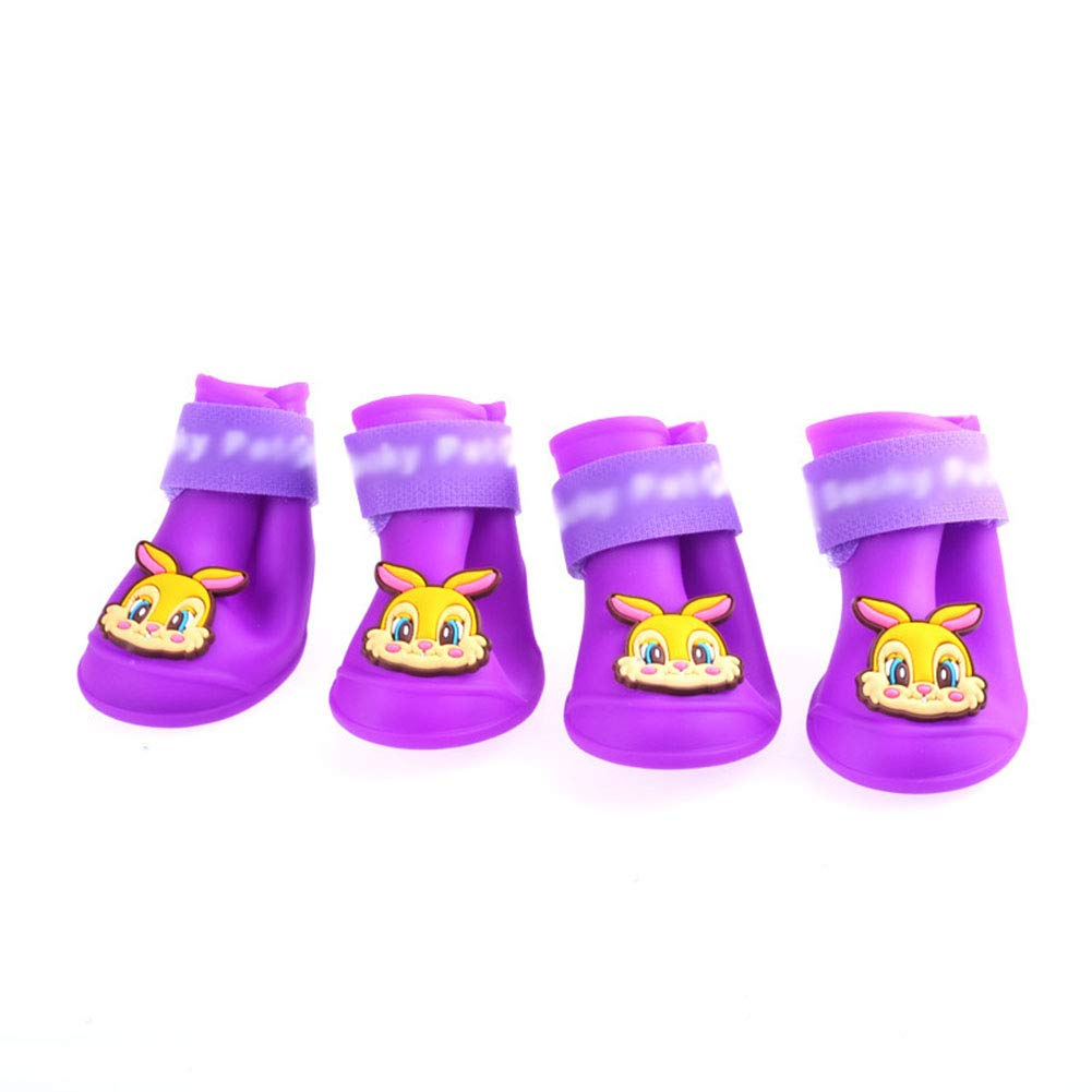 M Dog Rain shoes,Pet rain boots,Waterproof Predective Boots for Dogs With Velcro 4pcs