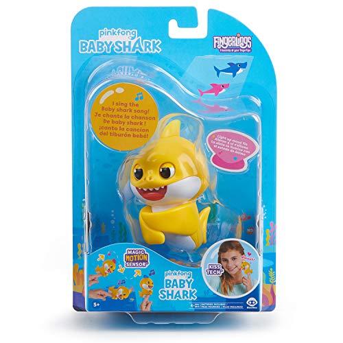51wHKg6cbaL - WowWee Pinkfong Baby Shark Fingerlings - Baby Shark - Preschool Interactive Toy
