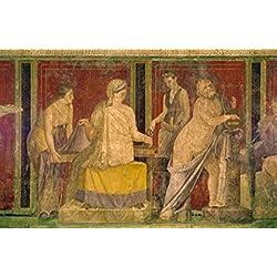 Roman fresco Circa60-50 BC Italy Pompeii Villa of the Mysteries Poster Print (24 x 36)