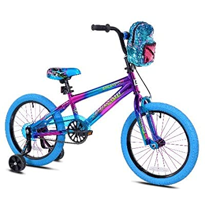 "Genesis 18"" Cute Girls Purple Illusion Bicycle with Backpack : Sports & Outdoors"