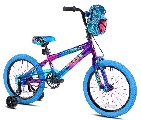 Genesis 18インチ かわいい女の子用 パープル イリュージョン 自転車 バックパック付き   B07KM1RWVD