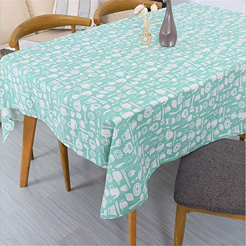 SSHHJ Nappe Jaune Maison Nappe Rectangulaire Table À Manger Pour Table Pique-Nique Fête B 100x140cm