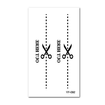 Etiqueta engomada del tatuaje impermeable Letra inglesa Etiqueta ...
