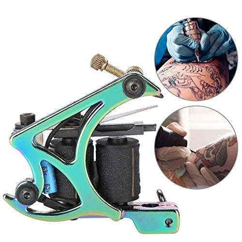 Tattoo Machine, Professional Lightweight Rotary Tattoo Kits High Power Motor Shader Coil Tattoo Tool for Beginners ()