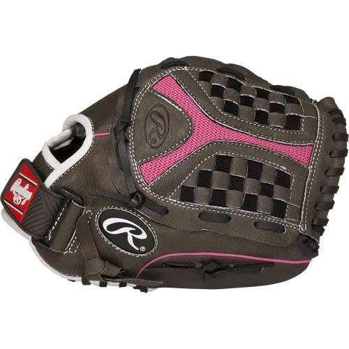 Rawlings 社製 ソフトボール用グローブ Storm Youth シリーズ B01H723AOQ Grey Pink 11.5|Worn on Left Hand Grey Pink 11.5