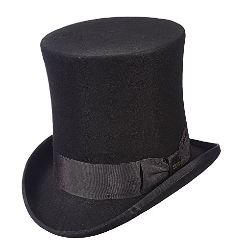 Scala Wool Top Hat (Scala Classico Men's Victorian Tall Top Hat, Black, L)