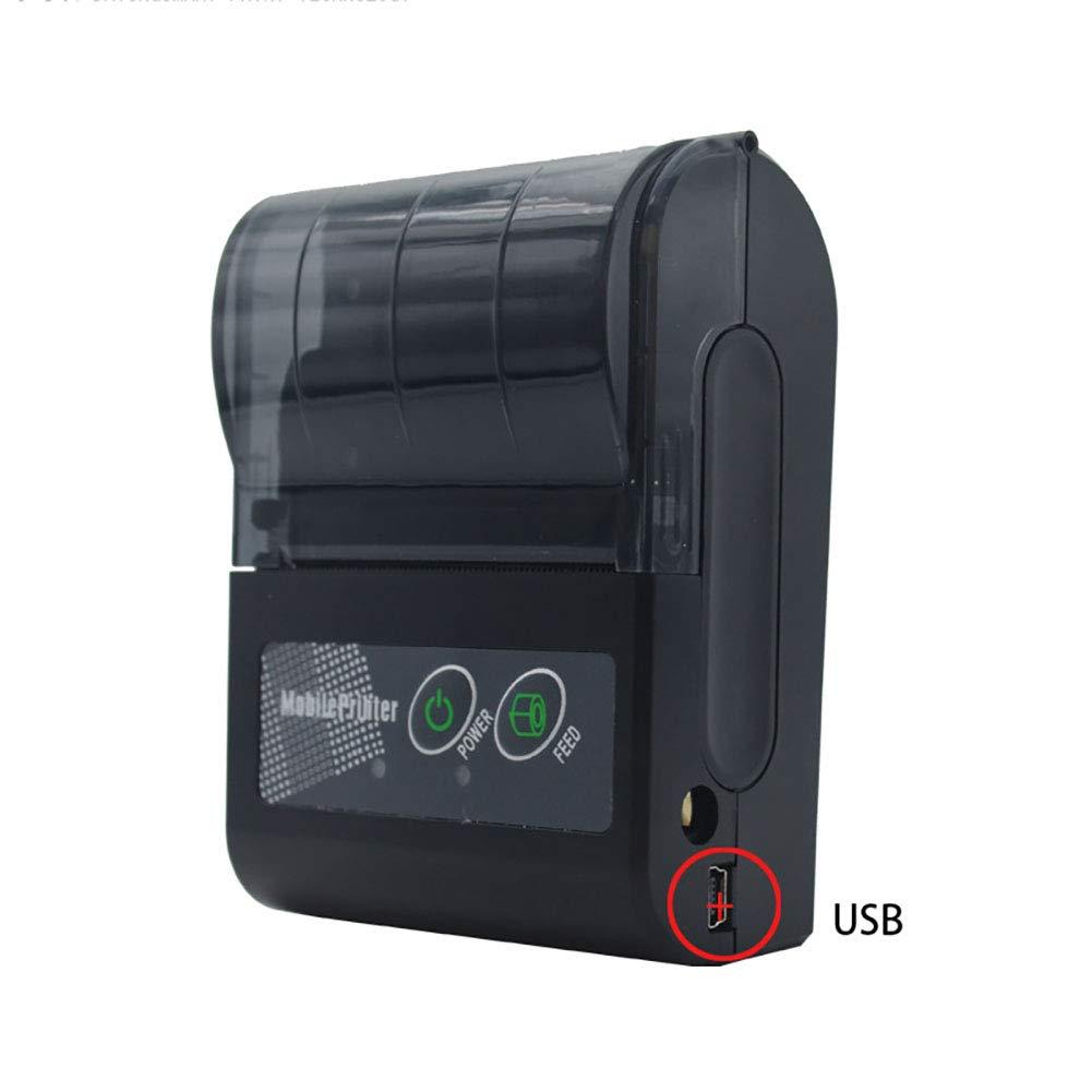 FFXENG Impresora térmica portátil, Mini Wireless Ticket Receipt ...