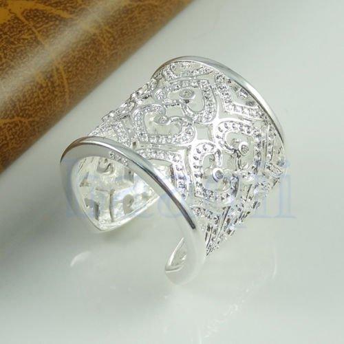 wassana Cœur de Strass Anneaux Plaquées Argent 925 Jewlery de Mode Cristal Ring NEUF HG (Strass Rings)