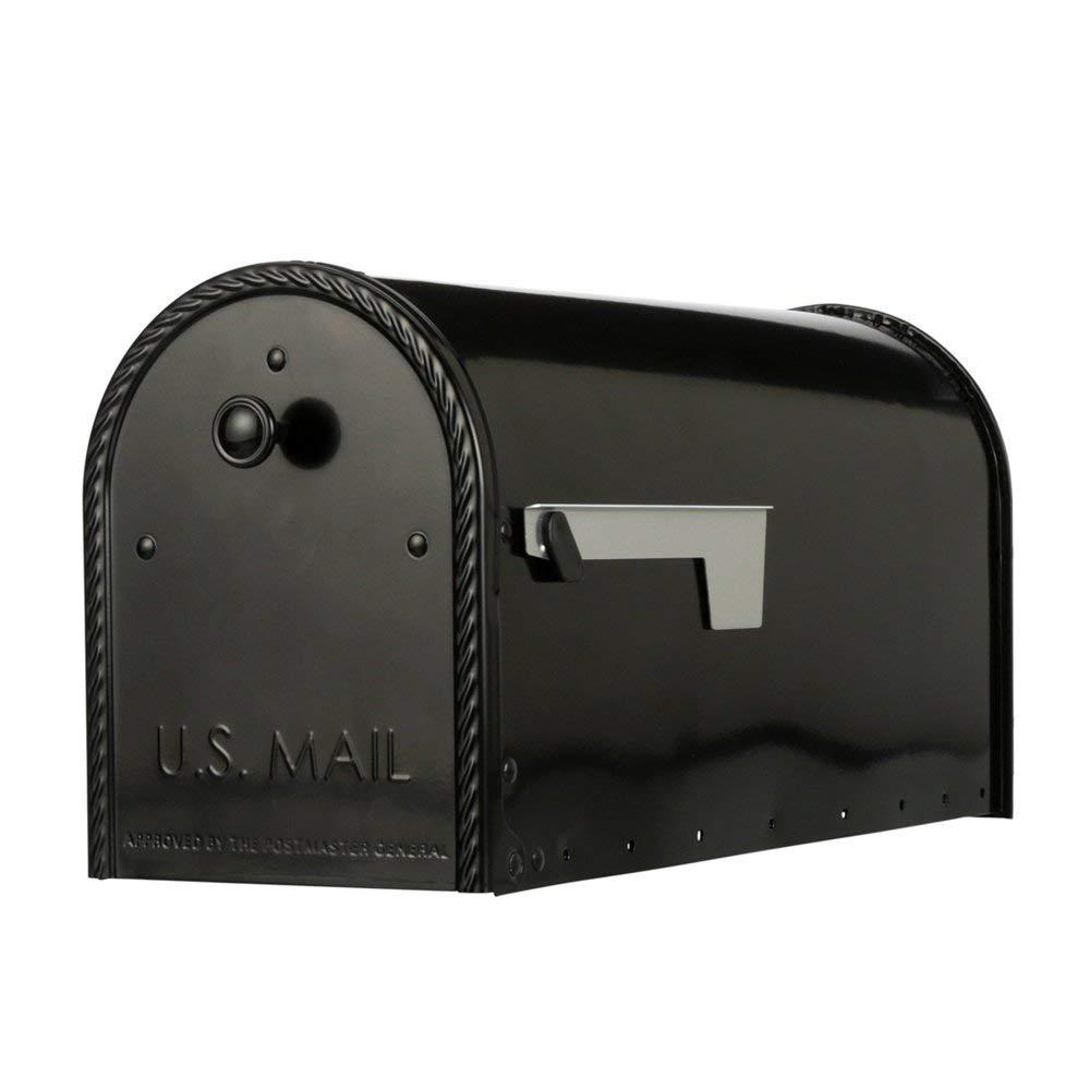 Gibraltar Mailboxes EM160B00 Edwards Rural Mailbox, Large, Black