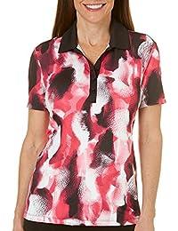 Golf Petite Golf Print Polo Shirt