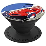 Vintage Auto Racer Speedway Rally Fast and Fun - PopSockets Grip and Stand for Phones and Tablets