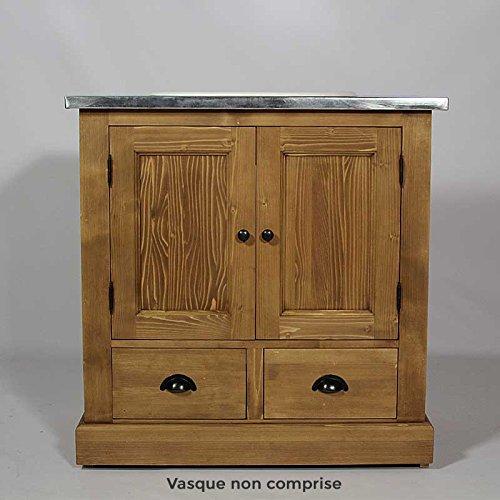 Waschtisch Badezimmer Unterschrank 1 Kiefer Massiv Honig Wachs Holz
