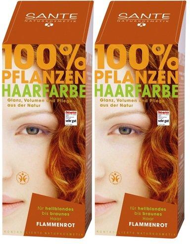 Sante BIO Haarfärbemittel flammenrot 1 x 100 g pflanzlich schonend Haare Tönung Haarfarbe glänzende strahlend sexy mild