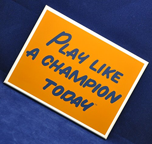 Play Like A Champion Today Sign