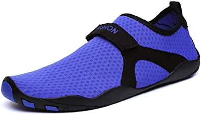 Mens Womens Water Shoes Mesh Barefoot Quick-Dry Outdoor Pool Aqua Socks for Beach Swim Diving Surf Sport