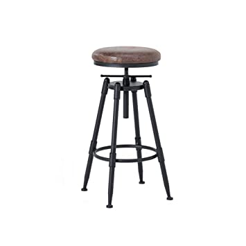 Excellent Amazon Com Round Wood And Metal Stool Vintage Industrial Pabps2019 Chair Design Images Pabps2019Com