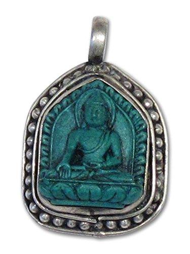 Faux Turquoise Buddha Pendant Turquoise Buddha Pendant