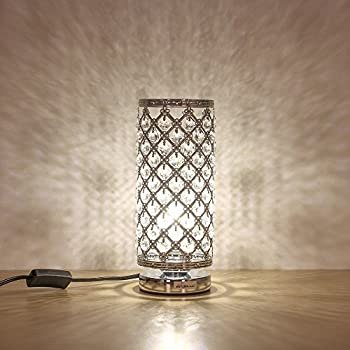Superieur HAITRAL Crystal Table Lamp Modern Night Light Lamp With Metal Frame 110 Pcs  Crystals Elegant Bedside