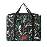 Habitaen Foldable Printed Storage Bags Organizer Portable Big Capacity Travel Bag For Clothes Accessories Cases Supplies Black