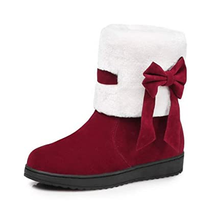 1214a3a3898a4 Amazon.com : Hy Women's Booties Winter Comfort Flat Snow Boots Boots ...