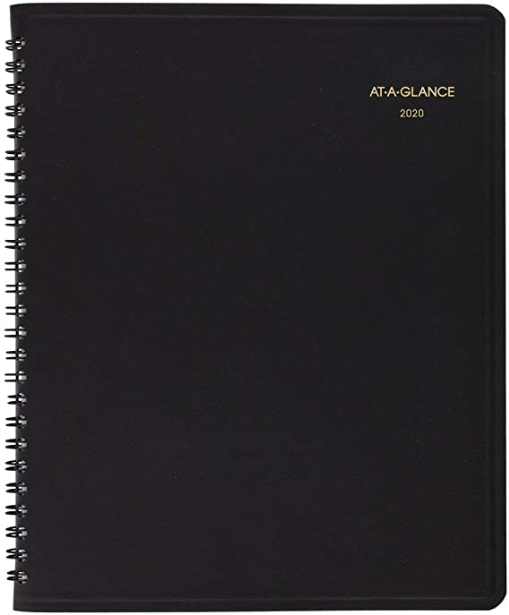 At-A-Glance 24-Hour Daily Appointment Book 10 3//4 x 8 1//2 White 2020 7021405