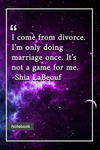 I come from divorce. I