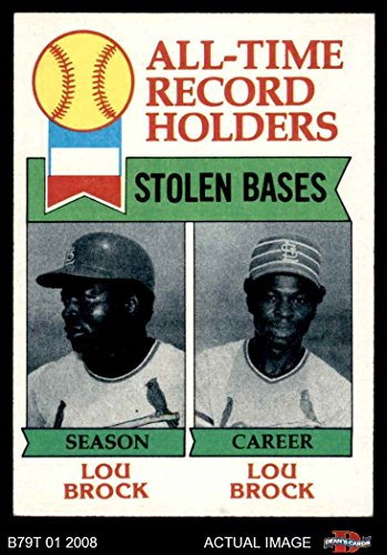 1979 Topps # 415 All-Time Record Holders - Stolen Bases Lou Brock St. Louis Cardinals (Baseball Card) Dean's Cards 6 - EX/MT Cardinals